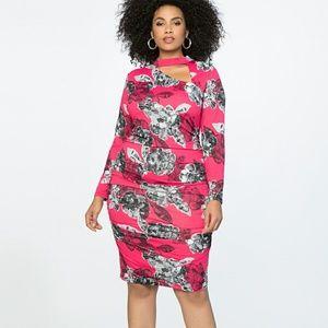 Beautiful Eloquii Cutout Mock Neck Dress